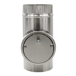Short Stainless Steel Pipe with Barometric Damper
